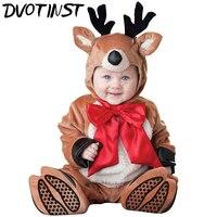 Baby Children Kids Halloween Party Cosplay Jumpsuit Deer Antelope Animals Costume Romper Hat Socks Infantil Toddler