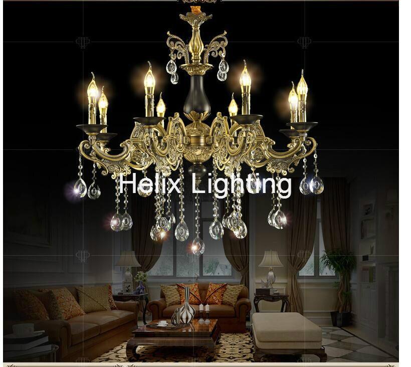 European Brass Color K9 Crystal Chandelier Modern Crystal Chandelier Lamp / Light / Lighting Fixture E14 LED AC 100% GuaranteedEuropean Brass Color K9 Crystal Chandelier Modern Crystal Chandelier Lamp / Light / Lighting Fixture E14 LED AC 100% Guaranteed