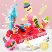 Children's Clay Mould Set Girl Toy 3D Ice-cream Noodle Machine Rubber Clay play house DIY Hand-made craft Gift for kids