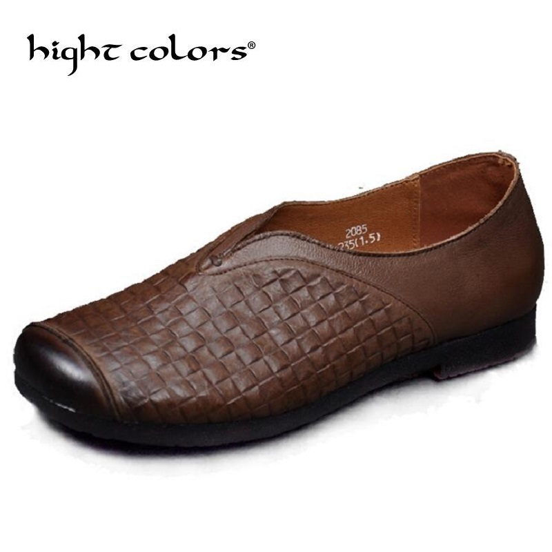 Hot Sell Autum Women Shoes Genuine Leather Flat Shoes Comfort Pure Handmade Shoes Soft Bottom Fashion Casual Shoes Woman Flats huifengazurrcs new pure handmade casual