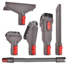 6-Pcs Attachment Kit Brush Tool For Dyson V7 V8 V10 For Dyson Vacuum Cleaner Mattress Tool Crevice Tool Nozzle Dyson Parts 1 цена и фото