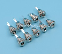 Free shippng 50Pcs Metal 5.5 x 2.1mm DC Power Female Jack Socket Connector Panel Mount High Quality