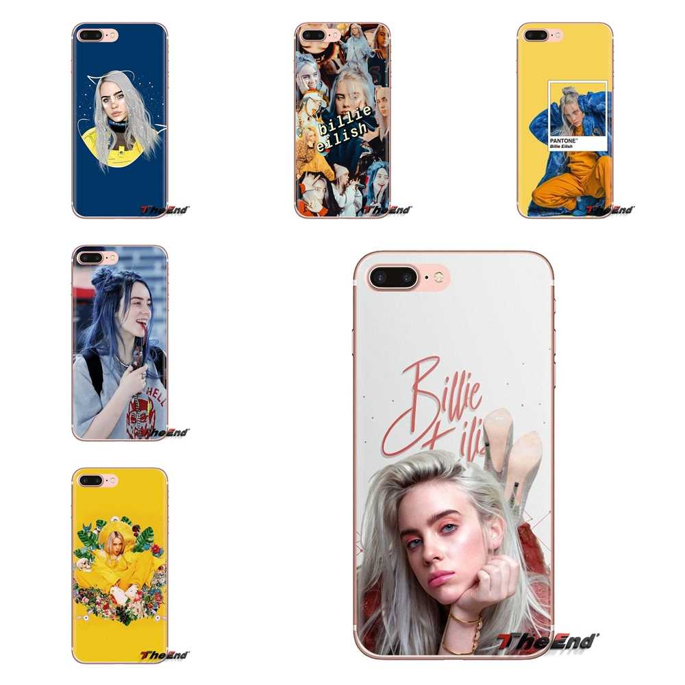 โปร่งใสนุ่มเปลือกสำหรับ iPod Touch Apple iPhone 4 4S 5S SE 5C 6 6S 7 8 X XR XS Plus MAX Billie Eilish Khalid