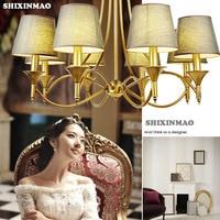 Fabrik direkt Luxus Amerikanischen land stil tuch Ein kronleuchter lampe wohnzimmer dekoration esszimmer/schlafzimmer/wohnzimmer