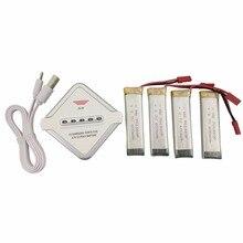 4PCS 3 7V 600mah font b battery b font UDI U815A U817A U818A for WLtoys V929
