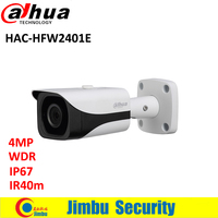 Dahua 4MP WDR HDCVI Bullet Camera HAC HFW2401E Lens3 6mm Max IR40m Waterproof IP67 CCTV Security