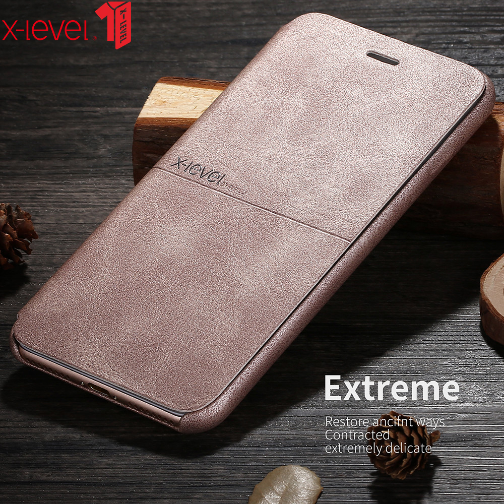 X-Level For <font><b>iPhone</b></font> SE 2020 Extreme Thin Leather Phone <font><b>Case</b></font> <font><b>Original</b></font> Luxury Soft Touch Flip Cover For <font><b>iPhone</b></font> <font><b>8</b></font> Plus <font><b>Case</b></font> image