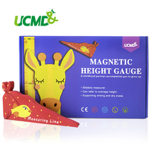 Magnetic Height Measure Growth Chart Record Wall Sticker Self-Adhesive Cartoon Art Decoration For Kids Rooms Kindergarten