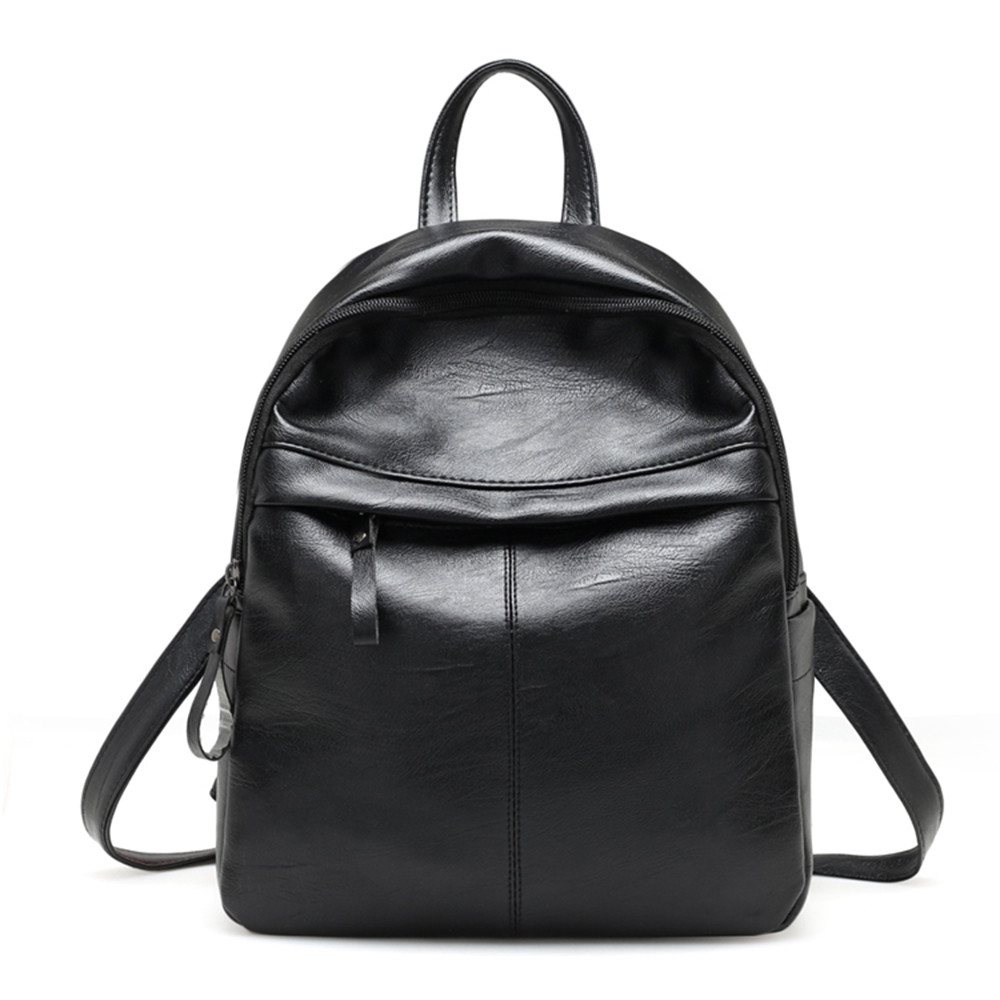 Women PU-Leather Backpack Girls School Bag Knapsack Student Anti-Theft Rucksack Travel Backpacks Mochila Feminina  P