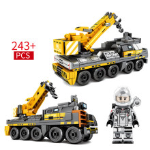 243pcs 2019 New Building Blocks Bricks Toys Compatible Friends Technic City Engineering Series Earth Construction Vehicle Figure 7 in 1 diy assembly engineering vehicle model building blocks compatible legoings column engineering car series bricks boys toys