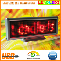 New USB LED Display Screen LED Sign Programmable Moving Message Module Board Red Color High Bright Led Light For Car Advertising