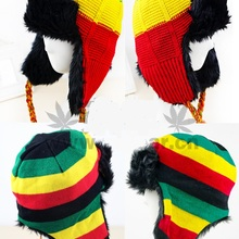Hat Helmet Beanie Trapper-Cap Multi-Colour Winter Jamaican-Cap Crochet Skull Reggae Rasta