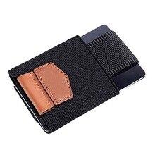 Men Women Small Minimalist Business Card Holder Elastic Belt Fixed Credit Cardholder Porte Carte Money Wallet Purse