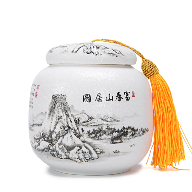 1pcs Ceramic Matt Tea Box Spice Tea Jar,China Storage Bottles Jar,Seasoning Storage Box Containers For Family,tempero canister