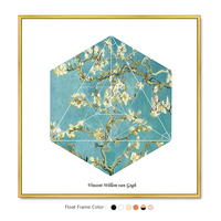 The Famous Almond Blossoms Geometric Picture By Vincent Van Gogh On Canvas Painting For Home Decoration