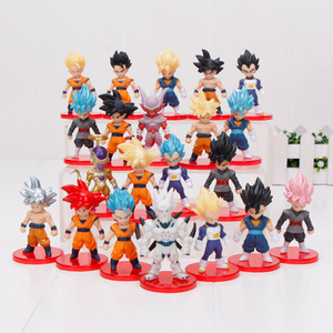 21pcs/set anime Dragon Ball Z Mini son goku Vegeta Gohan Dragon Ball super Saiyan Figure Toy Model Collection Kid Toy gift(China)