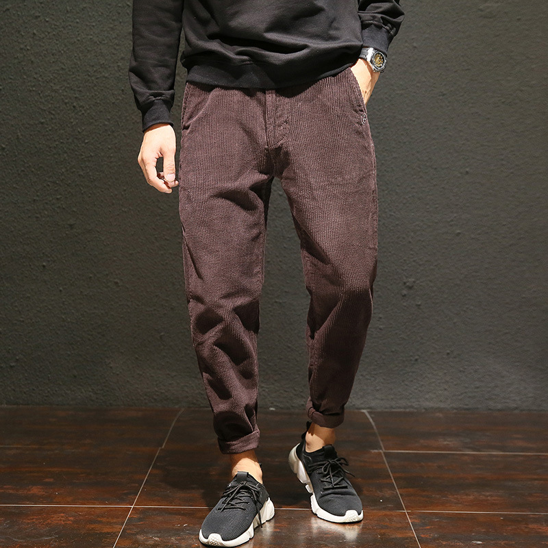 Men's Casual Pants Autumn And Winter Comfortable Corduroy Men's Slim Men's Trousers