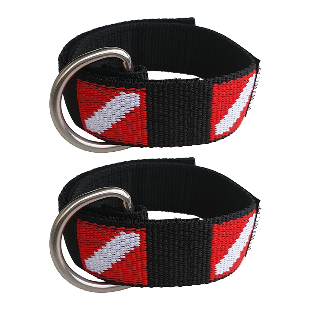Perfeclan 2pcs Scuba Diving Equipment  Wrist Straps Lanyard Underwater Camera Holder Webbing Bands For Outdoor Diving