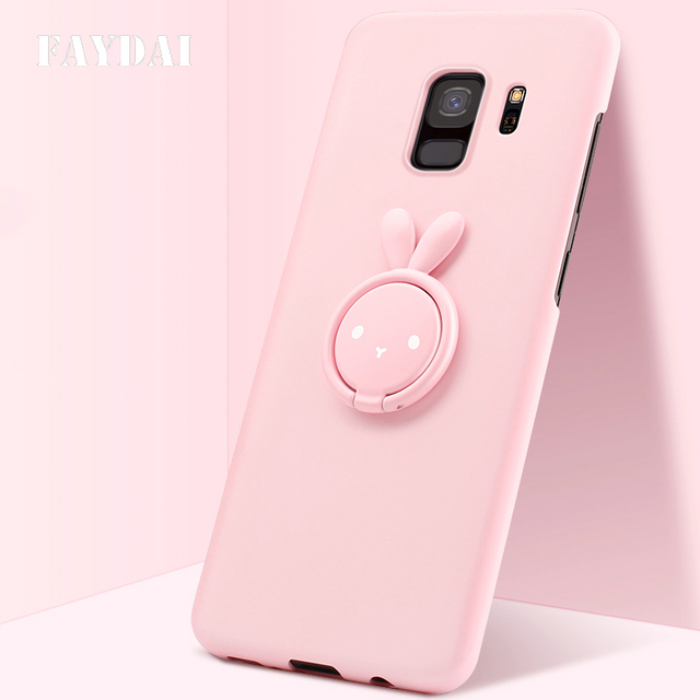 pretty nice eff60 d7bcb US $8.99 40% OFF|FAYDAI Cute Case For Samsung Galaxy S9 Fashion Hard  Plastic Cases Matte Silicone Cover For Samsung Galaxy S9 plus Case Coque-in  ...
