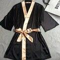 Сексуальные Женщины Одеяния Кружева Ночной Рубашке серии Большой размер Случайный Стиль Три Четверти рукавом Районные Халаты пижамы