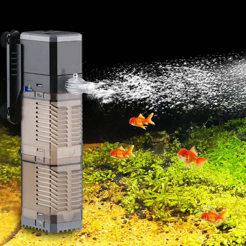 Aquarium Filter Pump Super 4 In 1 Fish Tank Submersible Air Oxygen Internal Pump CHJ502/CHJ602/CHJ902/CHJ1502 Water Pump