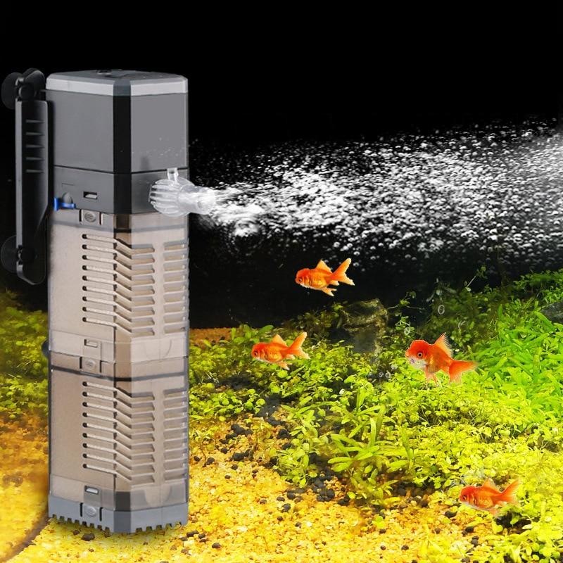 Aquarium Filter Pump Super 4 In 1 Fish Tank Submersible Air Oxygen Internal Pump CHJ502/CHJ602/CHJ902/CHJ1502 Water Pump