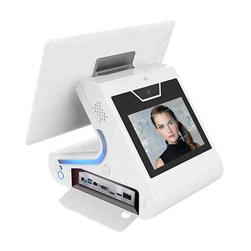 15.6 +9 Inch Dual Touch Screen Facial Recognition Device For Visitor Management