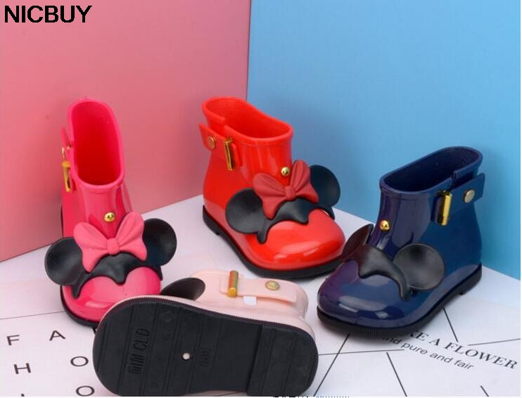 2018 New Style Child Rubber Boots Cartoon Minnie Mickey Infant Boots Baby Rain Boots Kids Girls Children Rain Waterproof Shoes