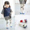 2016 Outono 2-12y meninas do bebê calças cores dos doces das Crianças dança de algodão meia-calça meia olhos C838
