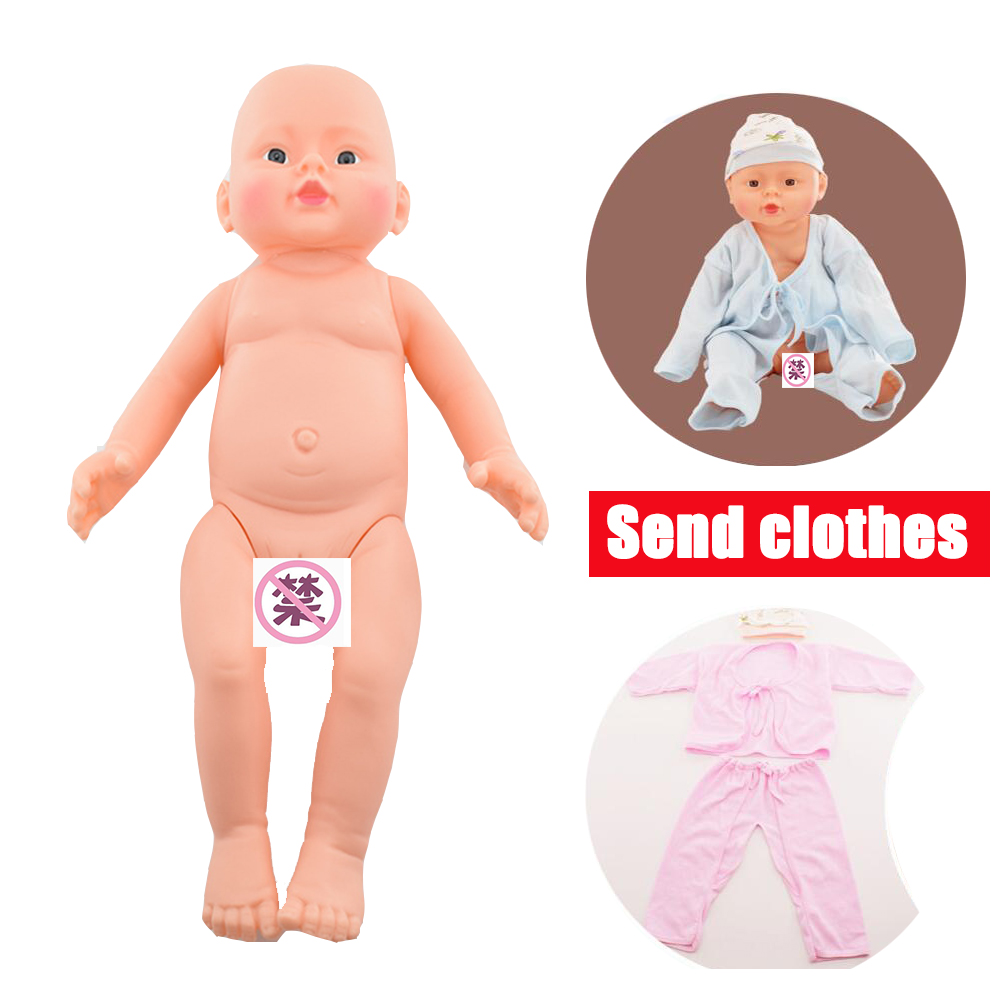 Corps de poupée Bjd nue en Silicone de 50 cm avec vêtements et chapeau fille et garçon pour enfants jouets de bricolage 3d bébé reborn lol poupées T18