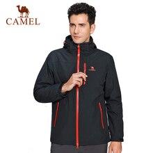 CAMEL Outdoor Jacket 3 In 1 Women Windproof Waterproof Jacket Female Camping Hiking Jackets Rain Windstopper Windbreaker