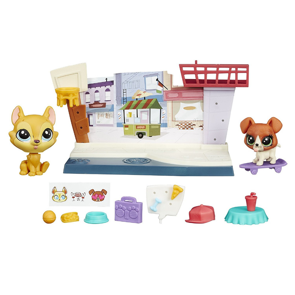 LPS Tales Cafe #81 #82 Buster & Hamsamu Pets in the City Pets 2Figure Collection Gift