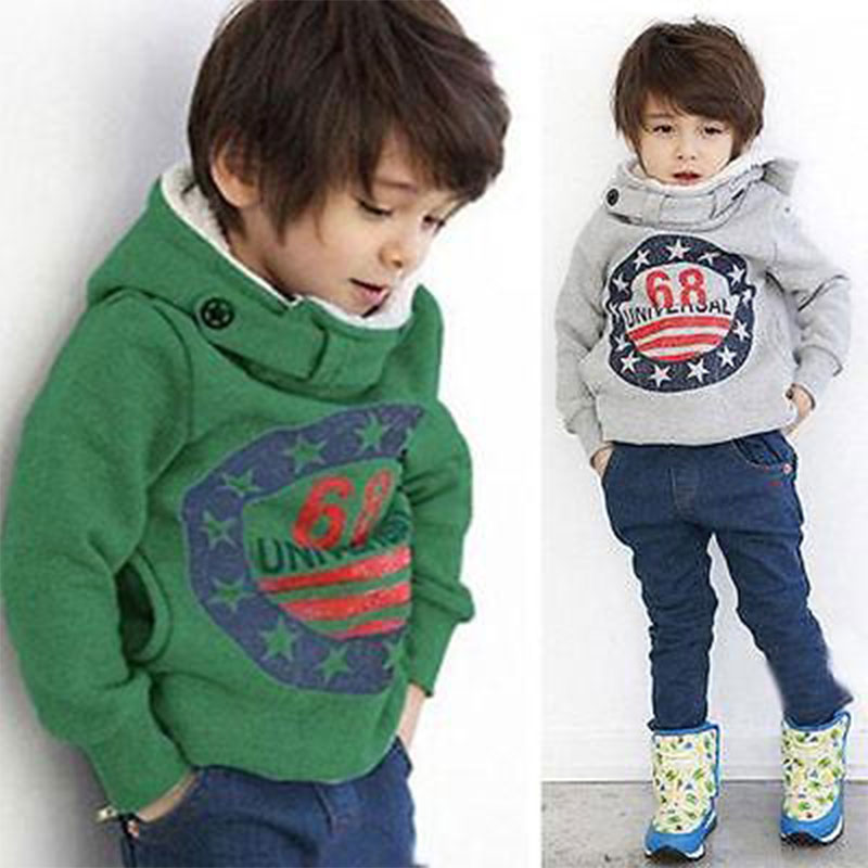Outerwear & Coats Mother & Kids 2017 Fashion Casual Newborn Toddler Baby Boy Girls Cotton Long Sleeve Hooded Solid Back Letter Jacket Coat Outfit Autumn Winter Reliable Performance