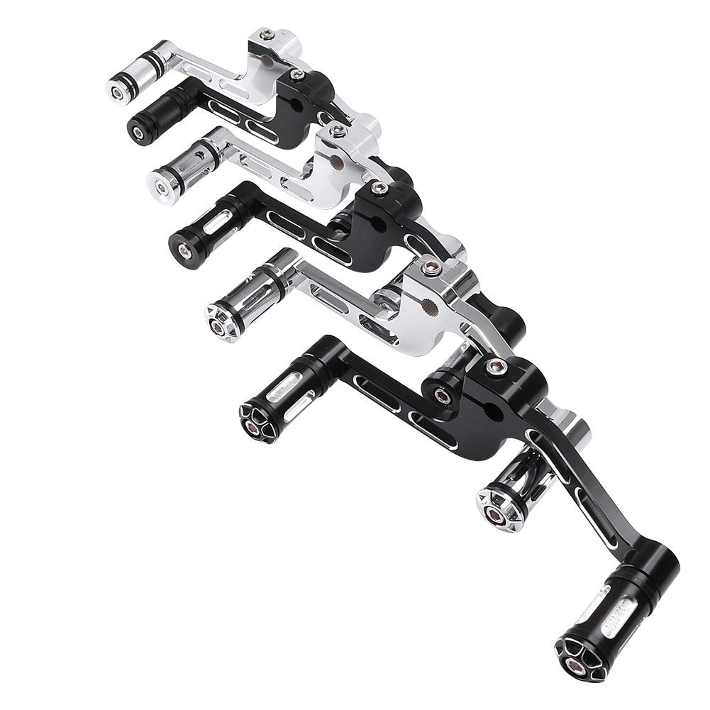CNC Heel Toe Shift Lever for Harley Davidson Superlow XL1200 Roadster XL 883 XL50 50th Anniversary Aluminum Motorcycle Parts motorbike brake clutch lever for harley sportster 883 1200 xl883n xl883l xl1200c xl1200 superlow iron custom 2014 2015 2016 2017