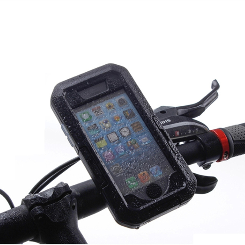for <font><b>iPhone</b></font> 5 5S SE Bicycle Scooter Motorcyle Handlebar Mount Holder Cycling Bike Bag Stand Mobile Bracket Waterproof Case