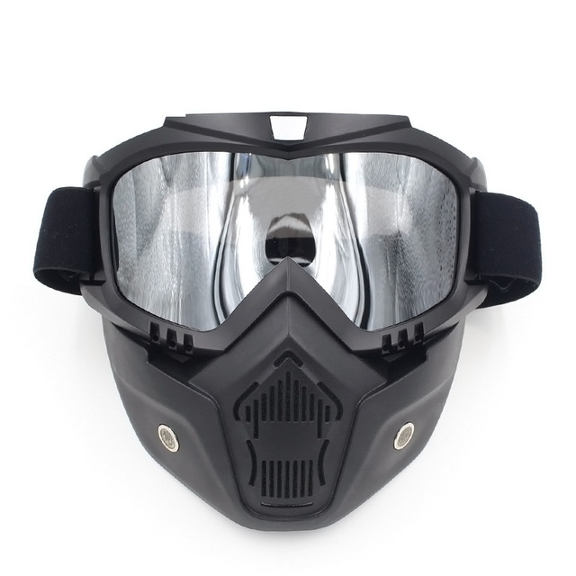 Motorcycle Face Dust Mask Detachable Motocross Goggles Mouth Filter For Cafe Racer Modular Open Face Moto Vintage Helmets