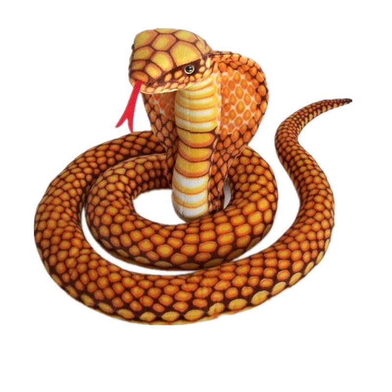 110Cm Blue Cobra//Snake Plush Stuffed Animal Doll Pillow Toy Novel Birthday Gifts