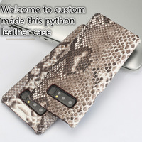 CH03 Genuine Python Leather Half Wrapped Case for Samsung Galaxy Note 8 Phone Case For Samsung Galaxy Note 8 Case Free Shipping