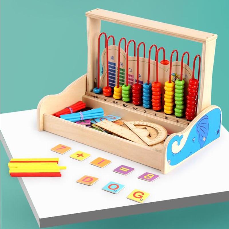 1 Set Creative Houten Baby Abacus Studie Blokken Speelgoed Gift Kinderen Educatief Onderwijs Speelgoed Rekenkundige Leren Voor Kind Speelgoed Elegant En Sierlijk