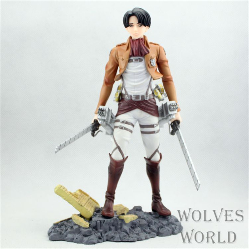 WVW 25CM Anime Attack on Titan Levi Ackerman Rivai Ackerman Model PVC Toy Action Figure Decoration For Collection Gift anime attack on titan chibi ackerman
