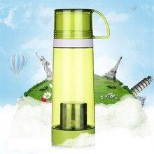500 ml 4 Colores Saludable Viajes Botella de Té Portable Del Recorrido Del Deporte botella de Agua Con Filtro Colador de Té Botellas