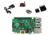 Raspberry Pi 3 Modèle B Conseil + Épaissir Acrylique Cas + 3.5 pouce Tactile LCD + Dissipateur de Chaleur + 5 V 2.5A Puissance chargeur avec Interrupteur