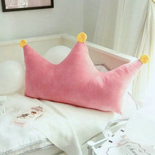 wholesale New Style Cute Crown pillow stuffed plush cushion Crown plush toys 90 100cm baby s