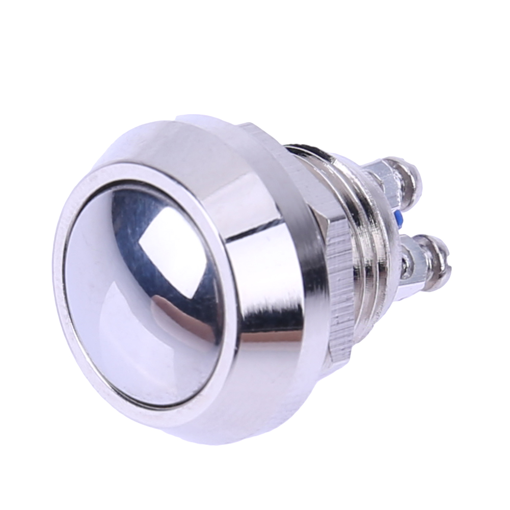 Waterproof 12mm Metal Boat Horn Momentary Stainless Steel Push Button Starter Switch Reset TypeCar Auto Engine Power Start