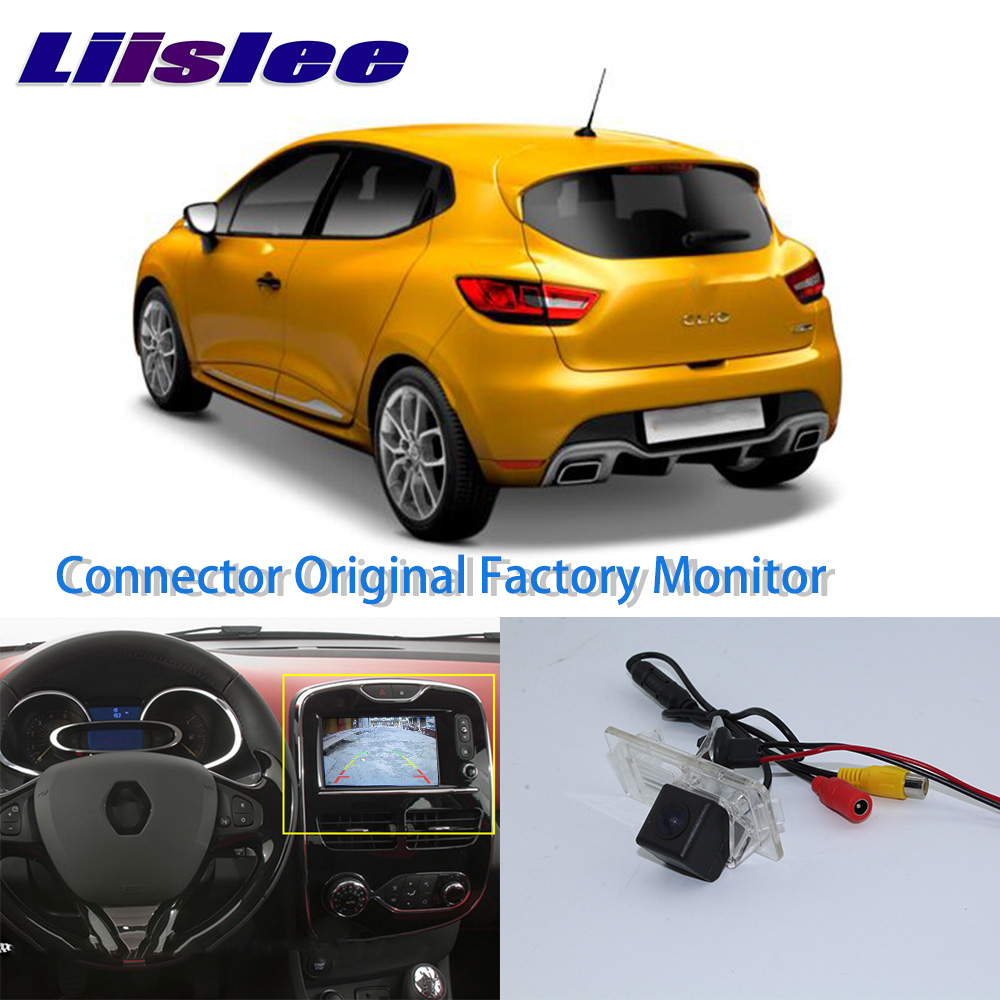 LiisLee High Quality Rear View Back Camera For Renault Clio 4 IV 2012 ~ 2018 Connect Original Factory Screen Monitor l locker renault clio iv hb 12