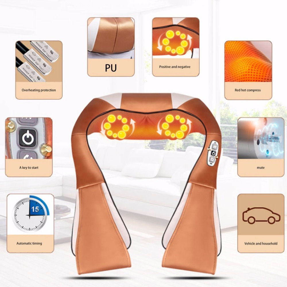 new Electric Massage Cape 16 Massage Heads Infrared Therapy Neck Back Waist Pain Relief Health Care Household Massage Devicenew Electric Massage Cape 16 Massage Heads Infrared Therapy Neck Back Waist Pain Relief Health Care Household Massage Device