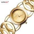 Longbo marca de moda de lujo relojes de las mujeres del estilo del ocio señoras charms pulseras relojes de pulsera analógico de cuarzo resistente al agua 80222