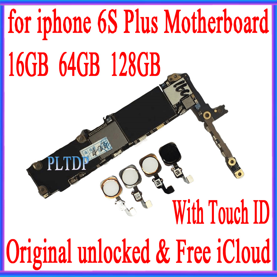 100% Original unlocked for <font><b>iphone</b></font> <font><b>6s</b></font> plus Motherboard without <font><b>Touch</b></font> <font><b>ID</b></font>/<font><b>With</b></font> <font><b>Touch</b></font> <font><b>ID</b></font>, <font><b>Logic</b></font> <font><b>board</b></font> 16gb /64gb /128gb image