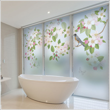 Window film glass office stickers balcony bathroom scrub Static window paper decoration