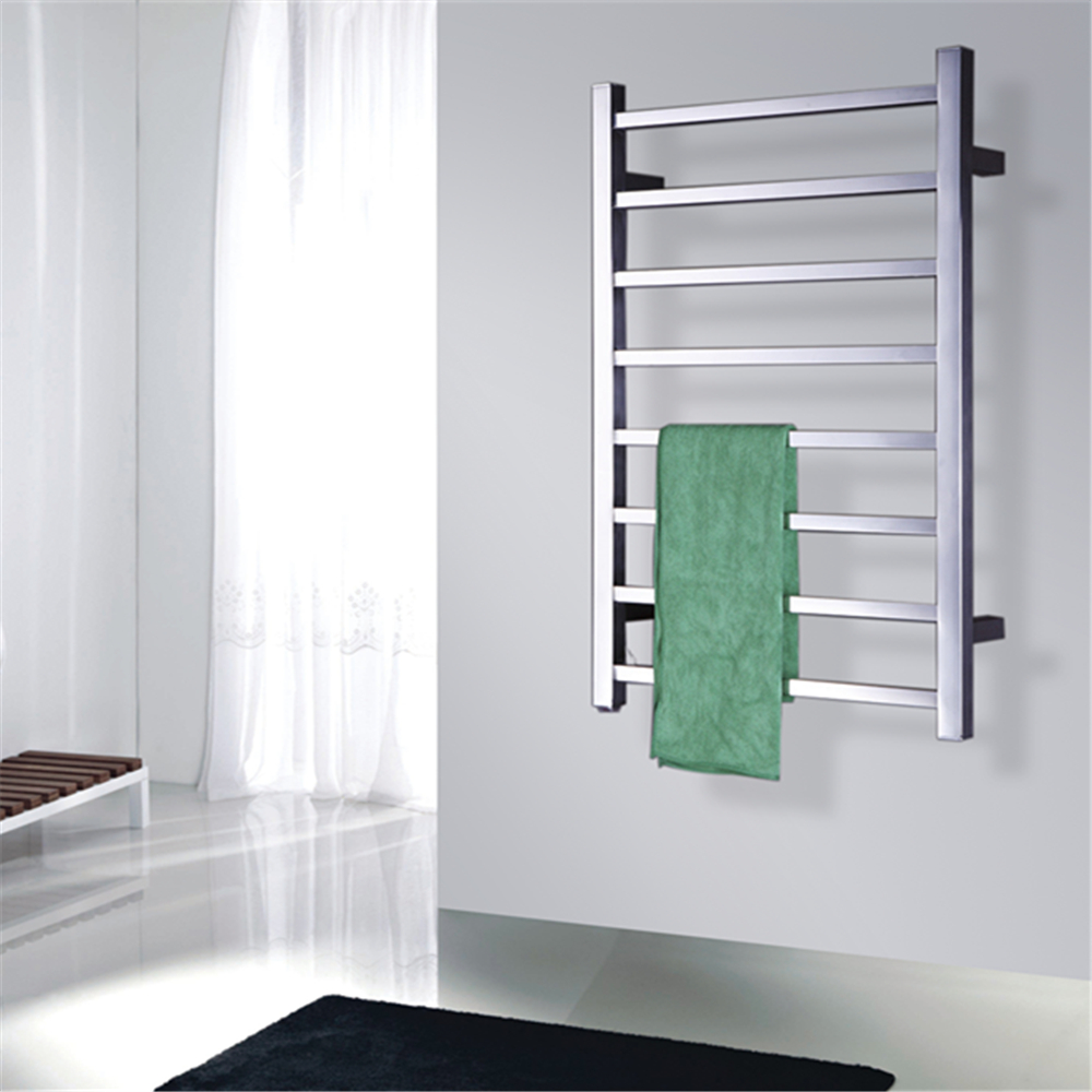 Popular Type Heated Towel Rails Bathroom Assessories Electric Heated Towel Rack Square bars Towel drying Heater TW-SQ8